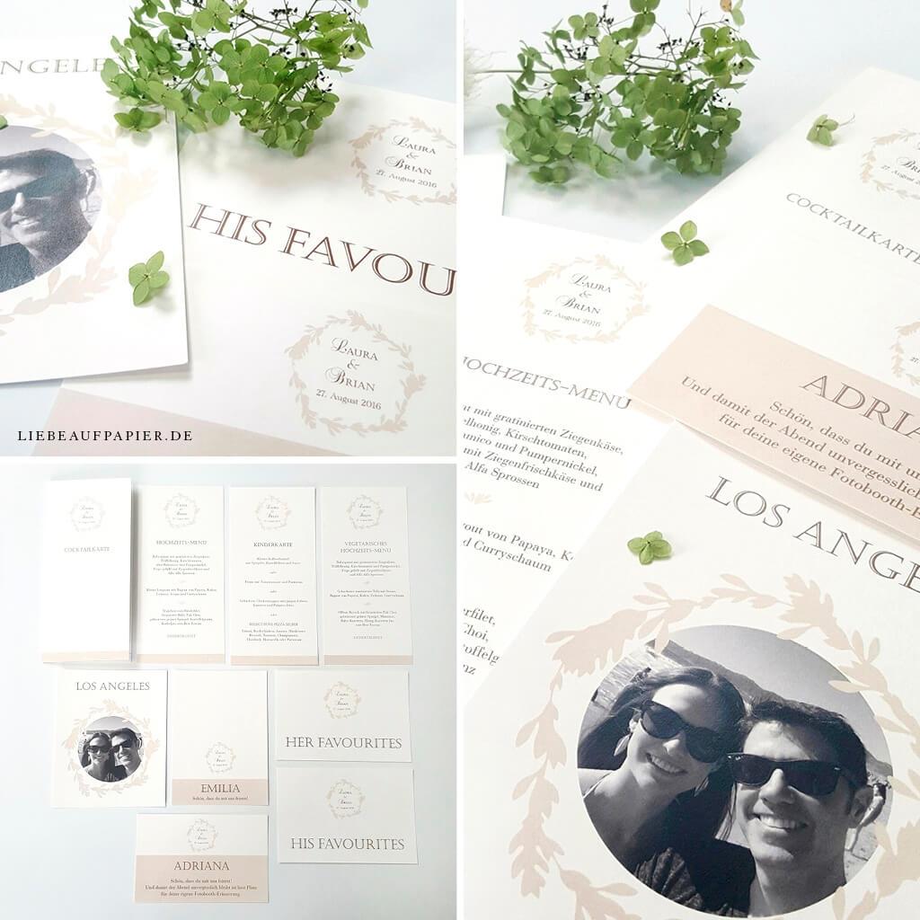Nr. 04 – Individuelles Design – Tischkarten, Platzkarten, Menükarten und Schildern.