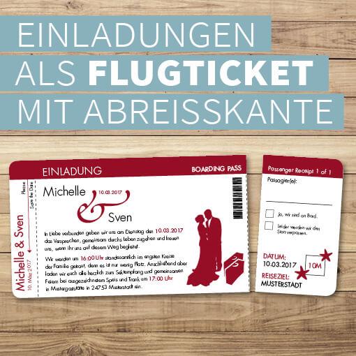 Einladungen als Tickets