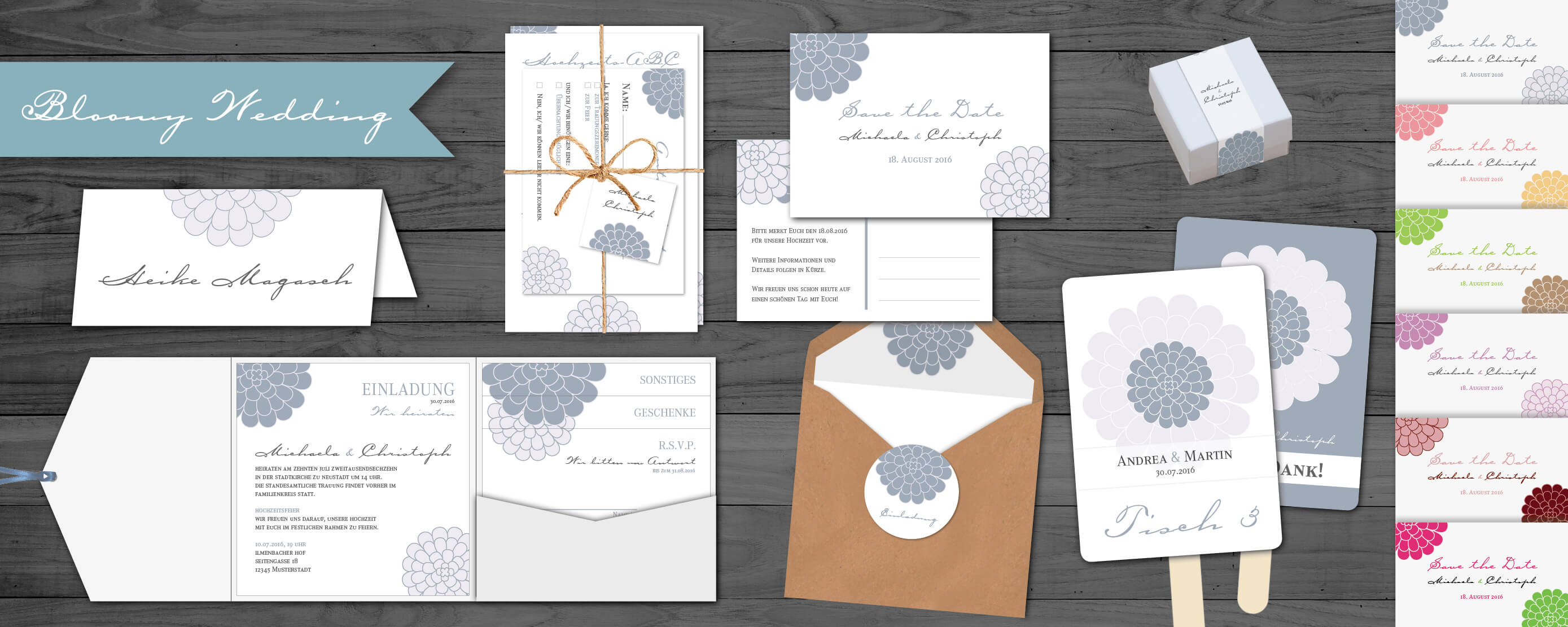 designserie bloomy wedding