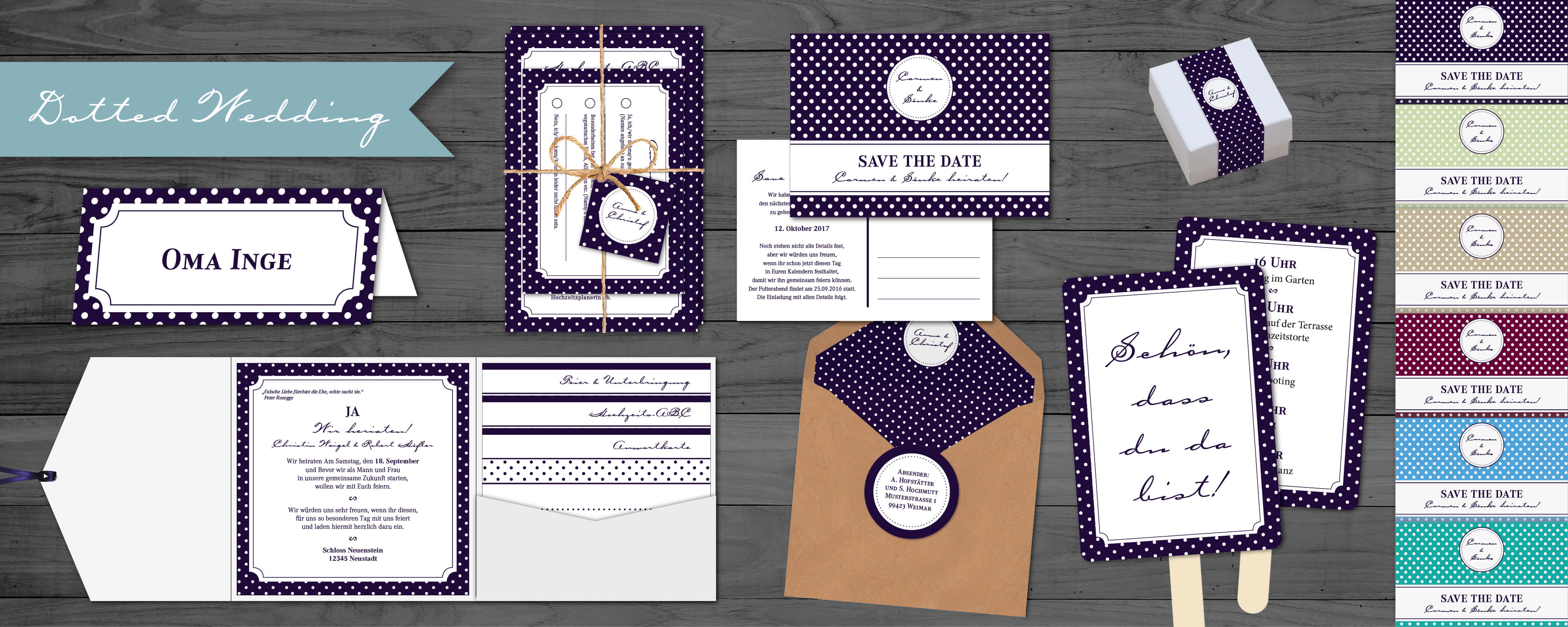 designserie dotted wedding
