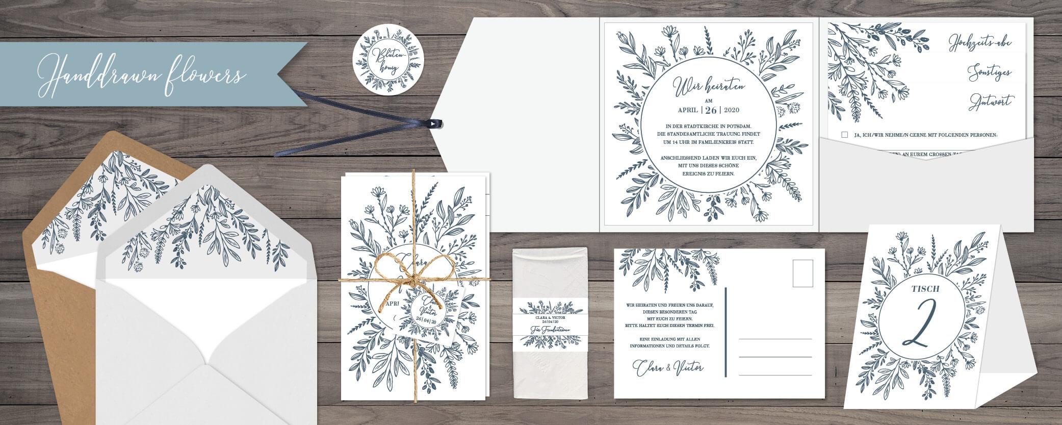 designserie Handdrawn flowers